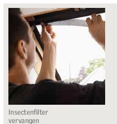 Velux insectenfilter vervangen